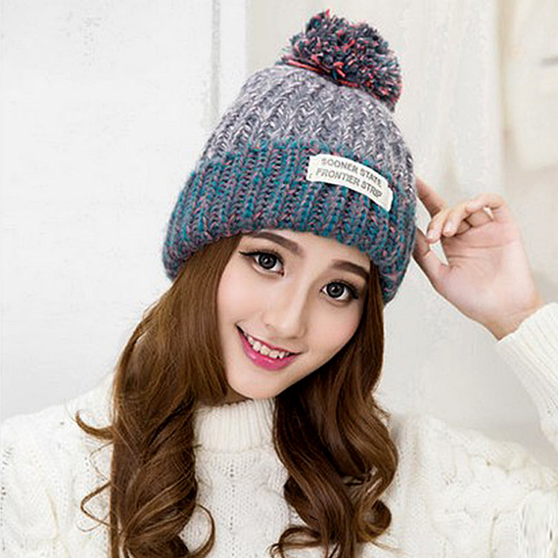 5373b8150d5df Winter Hats For Women Wool Hats Cute Lovely Women s Fashion Hat Casual Keep  Warm Knitted Hat Skullies Beanies BM015