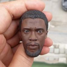 купить 1/6 Scale Black Panther 2.0 Head Sculpt for 12''Action Figures Bodies DIY по цене 2022.78 рублей