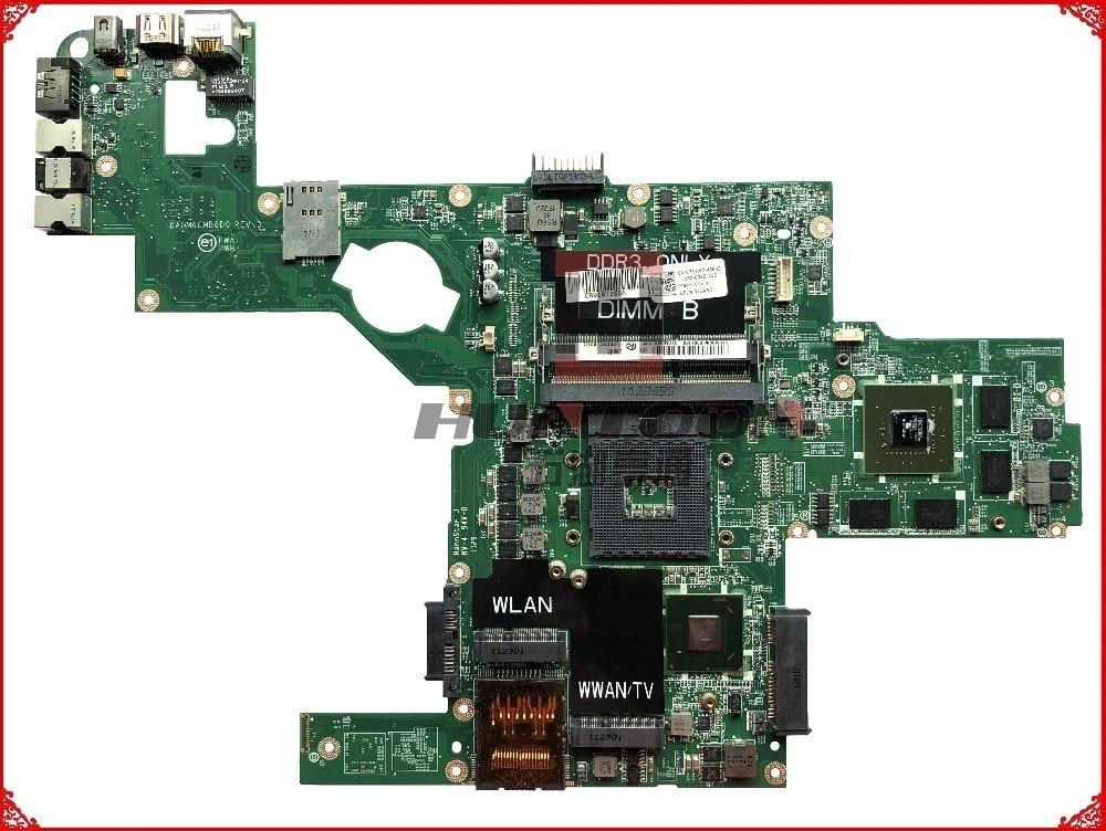 Оригинальная материнская плата для ноутбука Dell XPS L502X, 714WC PGA989 HM65 DDR3 GT540M, 2 Гб, поддержка процессора I7, 100% тестирование