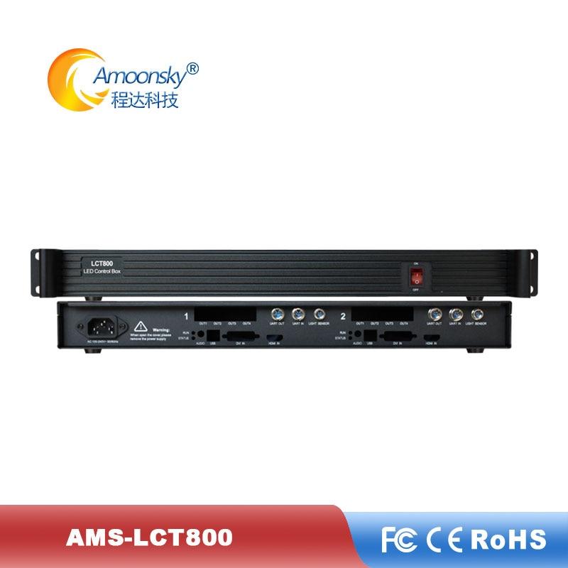 AMS-LCT800 Novastar MSD600 Sending Card Box Video Card Sender Can Install 2 Pcs Msd600 Sender For Led Rental Screen