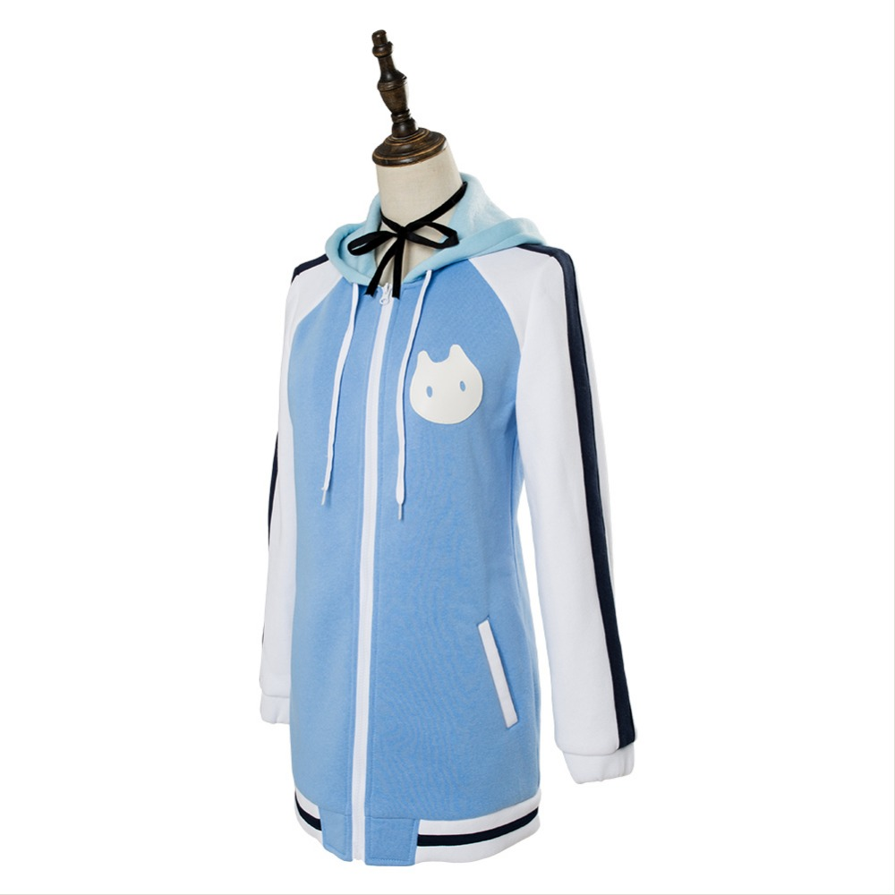 f4e6a44f3c1d Video Game ISLAND Ohara Rinne Cosplay Costume Blue Hoodie Coat Girls Outfit  Halloween Carnival Cosplay Costumes-in Anime Costumes from Novelty &  Special Use ...