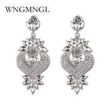 Wngmngl Золотые сережки капли большие серьги невесты в форме