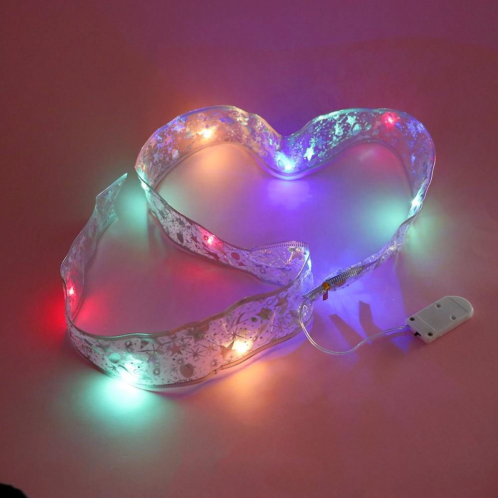 1M LED Christmas Holiday  Battery-Powered Ribbon Christmas Wedding Party Decoration Holiday