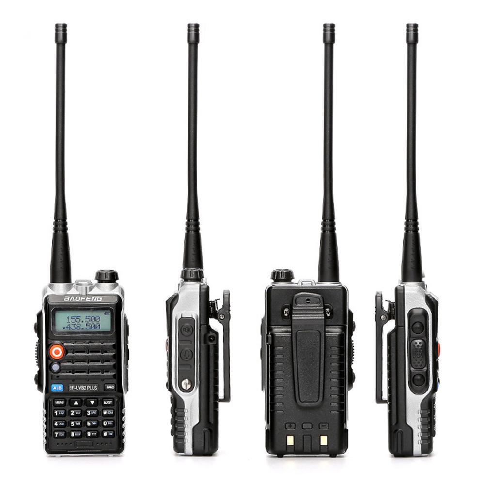 BF-UVB2PLUS VHF/UHF Dualband 136-174/400-520MHZ Two Way Walkie Talkie FM Radio