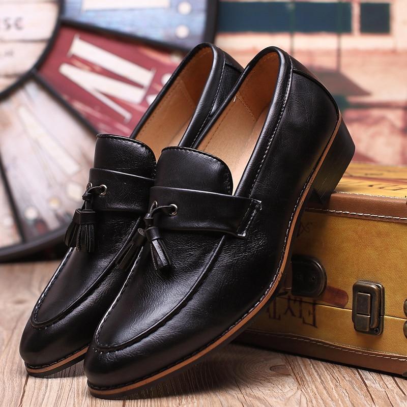 2019 New Design Fashion Mens Tassel Shoes Luxury Leather Italian Formal Snake Skin Dress Office Footwear Drop Shipping To Enjoy High Reputation In The International Market Shoes