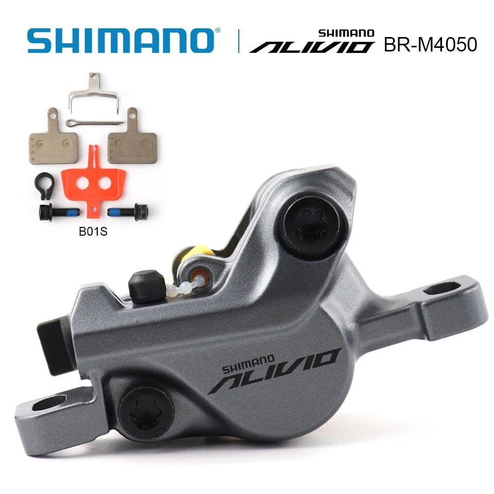 SHIMANO Alivio BR-M4050 Hydraulic Disc Brake Caliper With B01S Resin Brakd Pads Shimano genuine goods bike accessories запчасть shimano alivio m4050 efcm4050cx002x