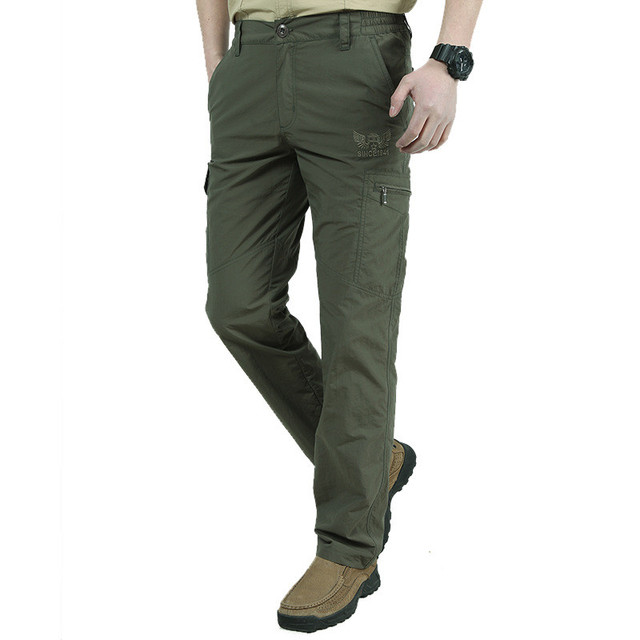 Men's Military Style Cargo Pants Men Summer Waterproof Breathable Male Trousers 1
