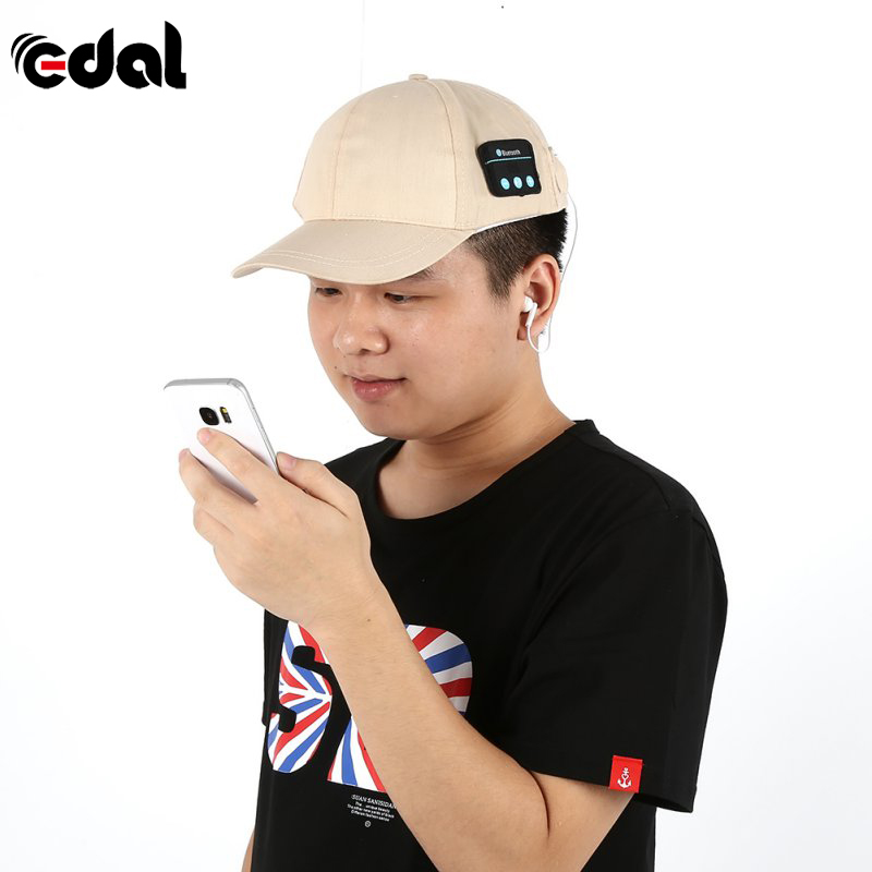 Autumn Winter Baseball Cap Wireless Bluetooth Smart Cap Hands Free Headset Ear-Phone Hat Speaker Mic Cap wireless bluetooth music beanie cap stereo headset to answer the call of hat speaker mic knitted cap