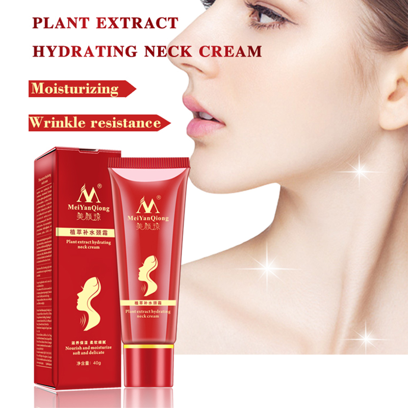 New Shea Butter Extract Hydrating Neck Cream Nourish Moisturizing Soft Delicate Fade Fine Lines Reduce Double Chin Neck Care in Neck from Beauty Health