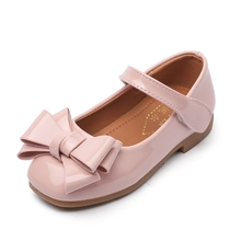 Girls Shoes For Children Leather Princess Shoes With Bow Spr