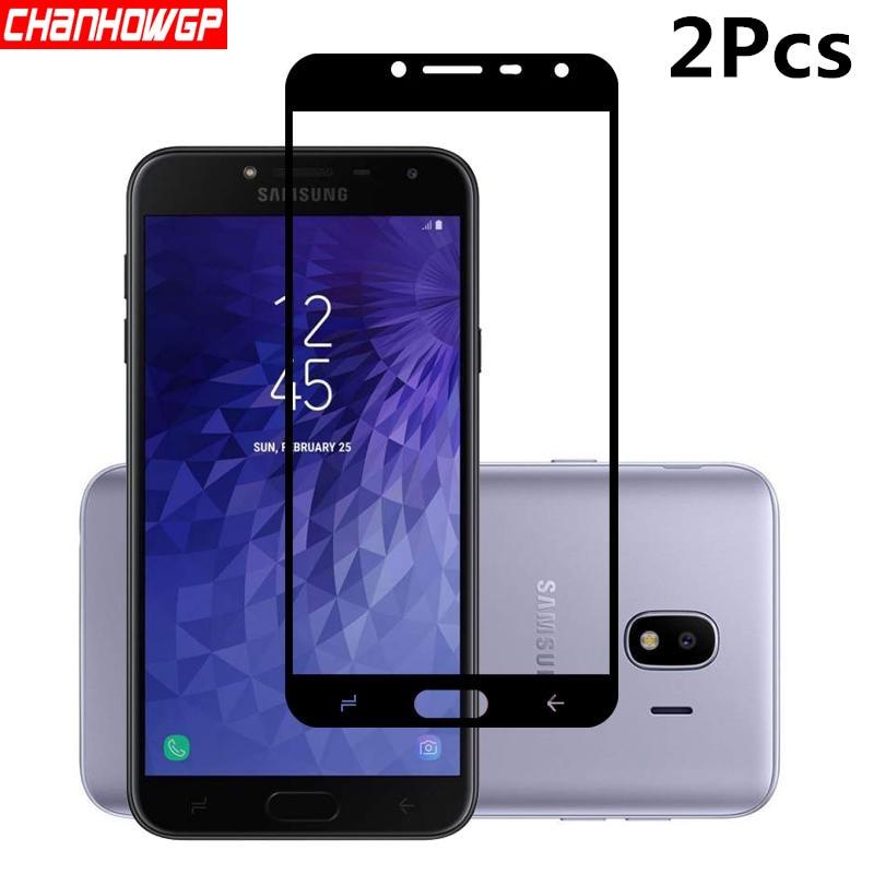 Cheio de Vidro Temperado Para Samsung Galaxy J4 2018 J400 J400F/Funda Para Samsung J4 DS Protetor De Tela De Vidro De Proteção coque capa