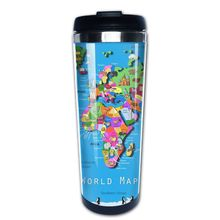 Buy map mug and get free shipping on aliexpress world map travel mug 400ml sealed lid with giftchina gumiabroncs Choice Image