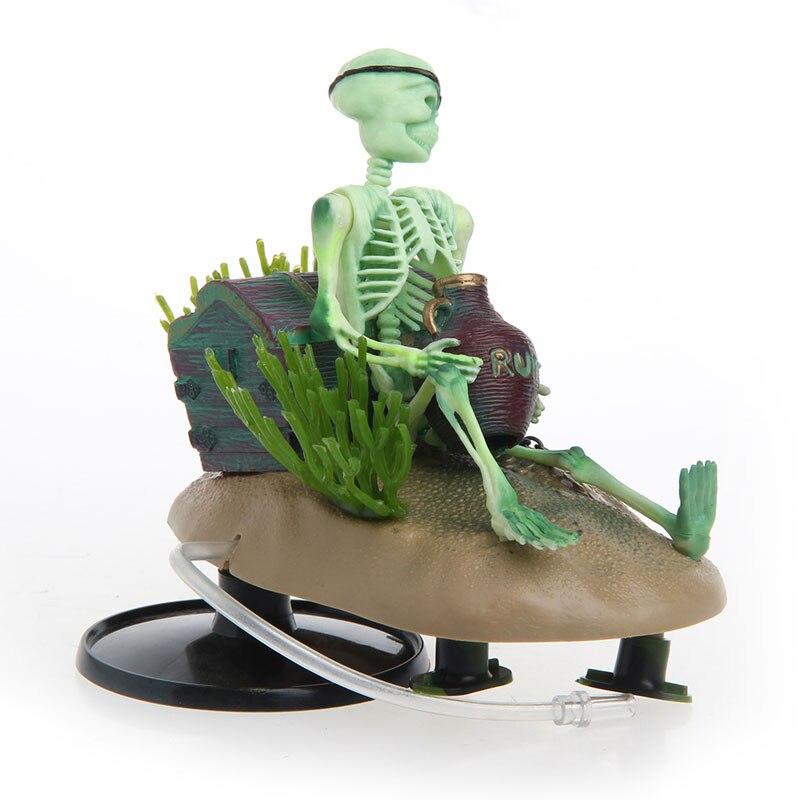Украшение для аквариума с пьяным скелетом, воздушное ландшафтное украшение для аквариума, новинка