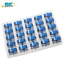 цена на 200pcs/lot Fiber Optic SC to SC Adapter Single Mode UPC Simplex Fiber Optic Extender SC/UPC-SC/UPC SM Fiber Couplers Series