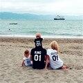Rey Reina Princesa Príncipe Camisetas Madre E Hija Familia Papá hijo de la Letra T Shirt trajes a juego de La Familia 01 Número Tops Tee