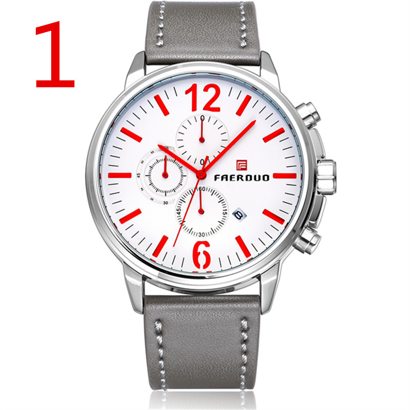 New men s stainless steel business quartz watch the style is concise and generous