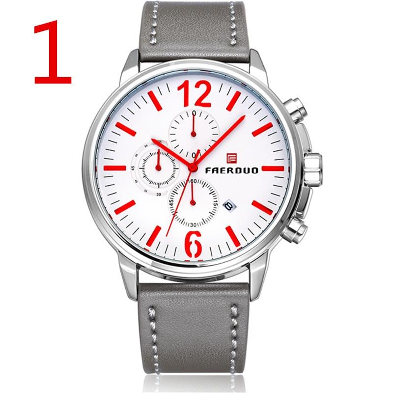 Novos homens de negócios relógio de quartzo de aço inoxidável, o estilo é conciso e generoso.