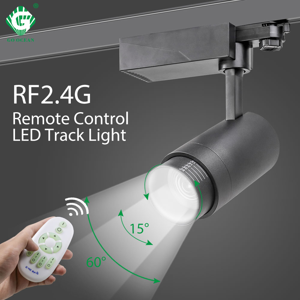 20w led track light 2 4g rf wireless control ceiling track spotlights lighting brightness cct dimmable color changeable zoomable
