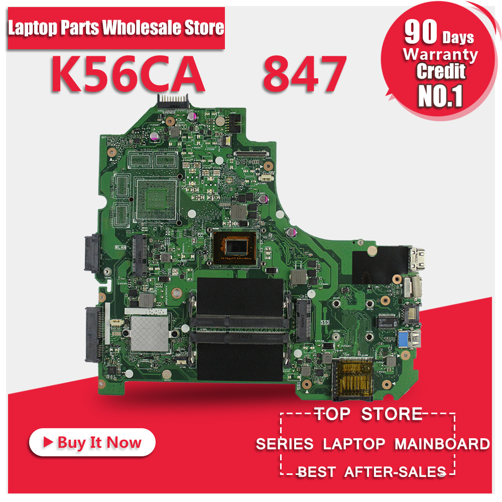 100% working for ASUS buy K56CA motherboard 847 CPU online Fully tested 100% tested for washing machines board xqsb50 0528 xqsb52 528 xqsb55 0528 0034000808d motherboard on sale