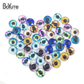 48 Pcs Round 12mm,20mm,25mm,30 mm Glass Cabochon Setting Mix Toy Eye/Cartoon/Butterfly Image Stone Cabochons For Earrings