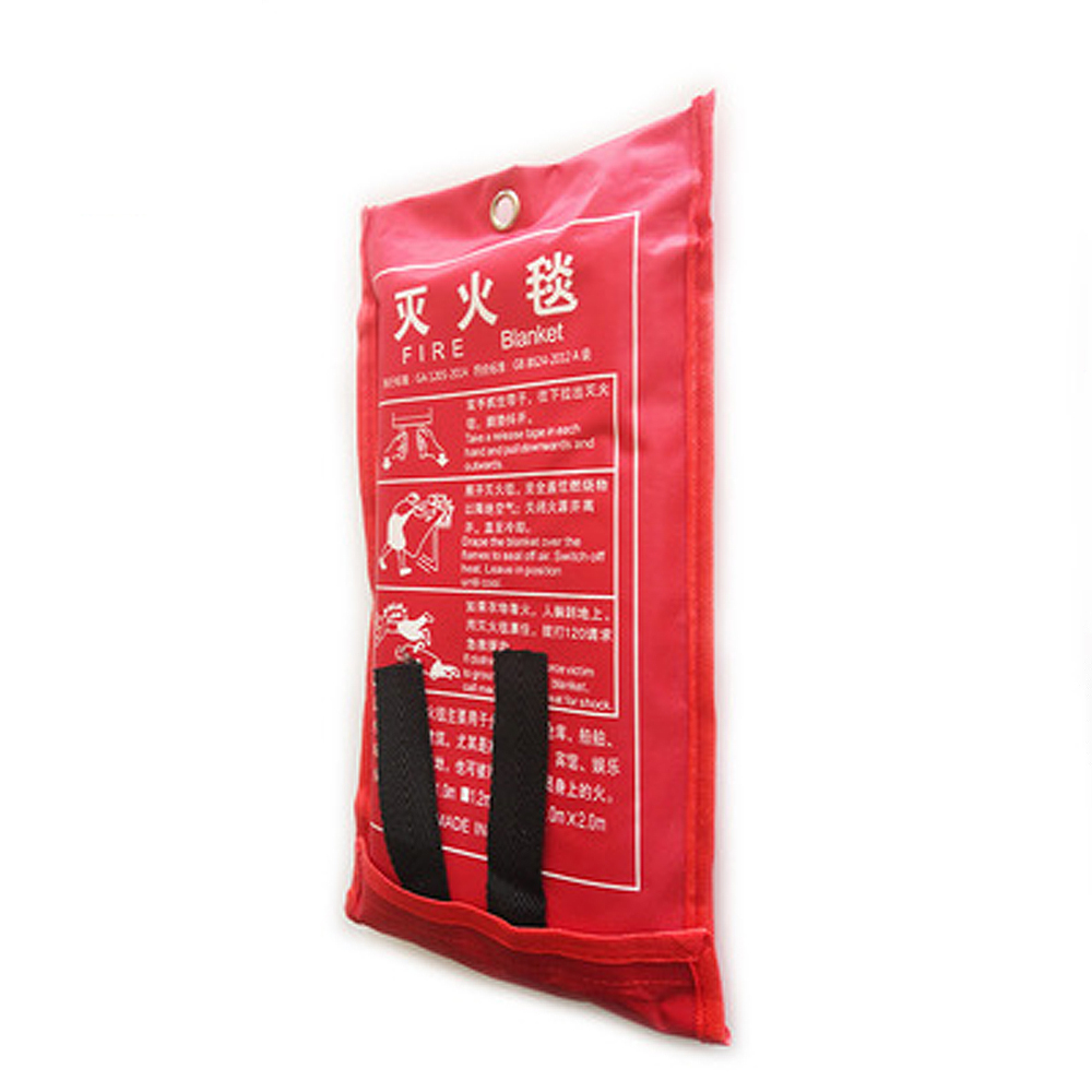 1mx1m Fiberglass Fire Blanket Fire Flame Retardant Emergency Survival Fire Shelter Safety Cover Fire Extinguisher