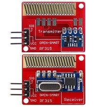 Беспроводной Радиочастотный приемопередатчик открытого радиуса действия 315 МГц для Arduino LORA Board, мини радиочастотный передатчик, модуль приемника, комплект 315 МГц