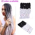 24 Inch Ombre Kanekalon Hair Extensions Xpression Braiding hair Hairpiece Fake Hair Crochet Braid Hairstyle Senegalese Twist