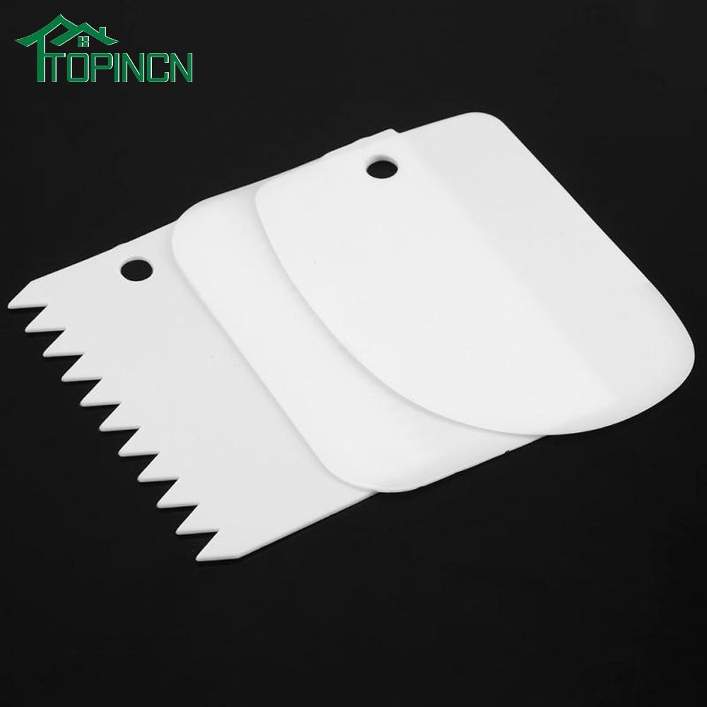 Blade 3pcs//set Smoother Tools Kitchen Plastic Spatula Cream Butter Scraper