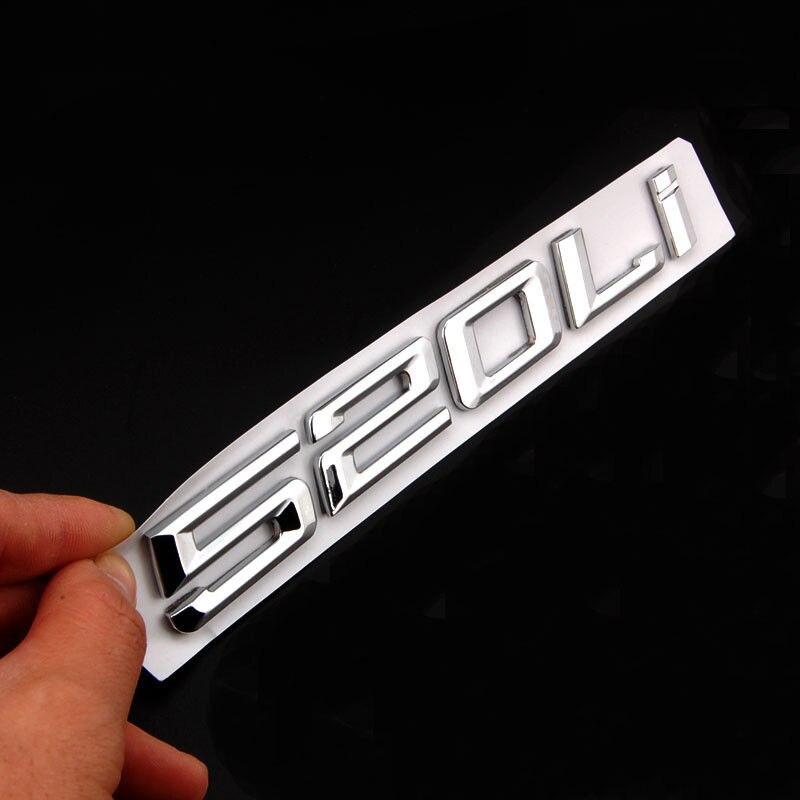 Барбекю@ФУКА 1шт Новый 3D стикер автомобиля металла письмо 520Li 520i знак герба отличительные знаки для BMW 5 серии Ф10 Ф11 Ф07-детектор автомобильный стим