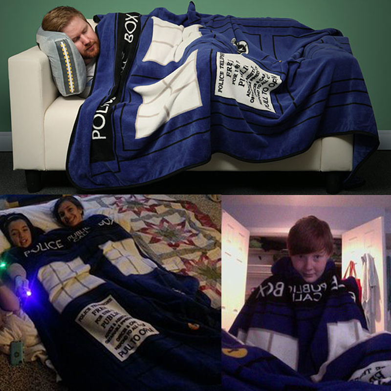 Free Shipping Doctor Who Cosplay TARDIS Blankets Coral Fleece Police Box Cosplay Carpet Throw Blankets Blue Bed Sheet 127*226cm аниме чашки универсальный товар doctor who tardis 18