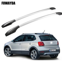 FUWAYDA car styling stickers decoration for Volkswagen Polo car roof rack aluminum alloy luggage rack punch Free 1.3 meters(China)