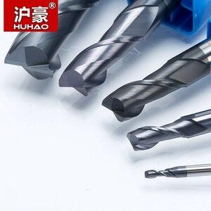 Image 4 - Huhao 1 2 Sáo Chắc Chắn Carbide Cấp Cối Xay Phay CNC Cắt HRC45 Thép Vonfram Tiain Phối Router Bit Cho máy CNC