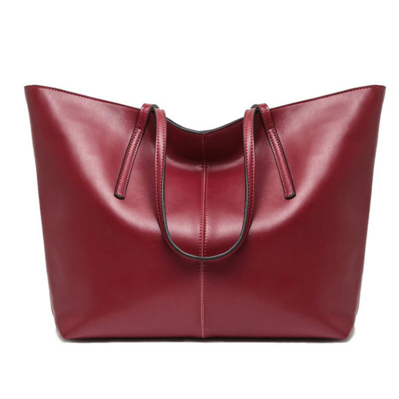 2016 100% Genuine Leather Women Top-Handle Bags Simple Ladies Shoulder Bag Women Leather Handbag LY09 2016 100