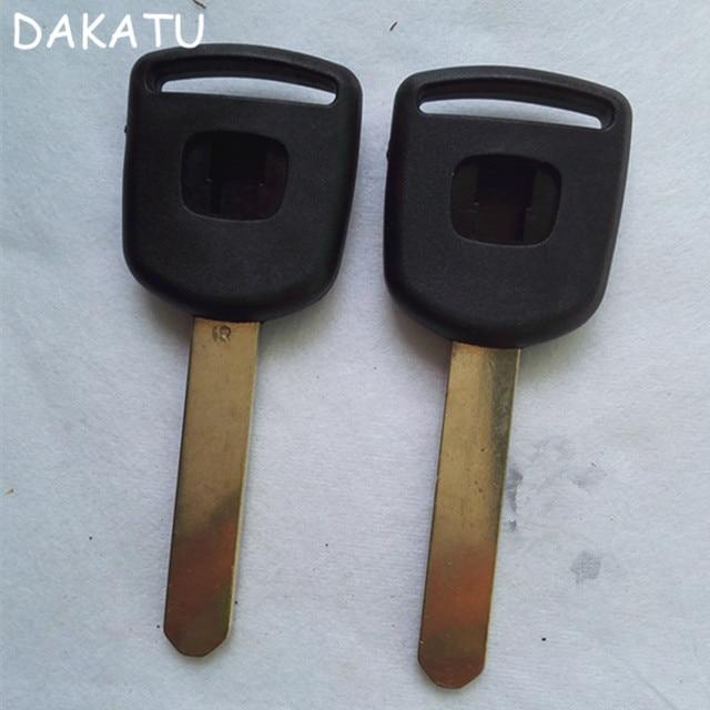 US $10 38 20% OFF|DAKATUBlank Replacement Car Key Case Shell For honda Key  Shell 2 4 For Honda Accord FIT CRV Civic SPIRIOR Transponder Key Shell -in