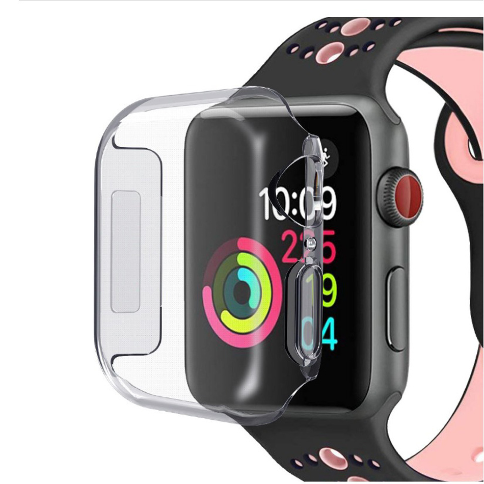 Hot Sale 40mm 44mm Shockproof Case Cover TPU Transparent Dropproof Waterproof Screen Protector for iWatch 4