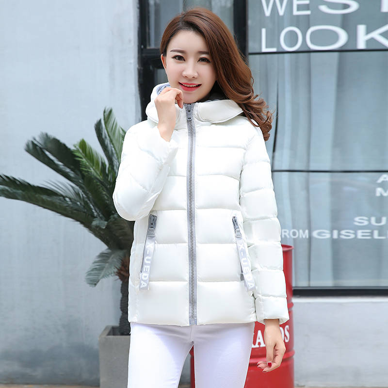 Short Parka Jackets Hooded-Stand-Collar Female Coat Womens Winter Inverno Feminino Casaco