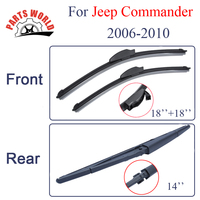 Group Silicone Rubber Front And Rear Wiper Blades For Jeep Commander 2006 2010 Windscreen Wipers Car