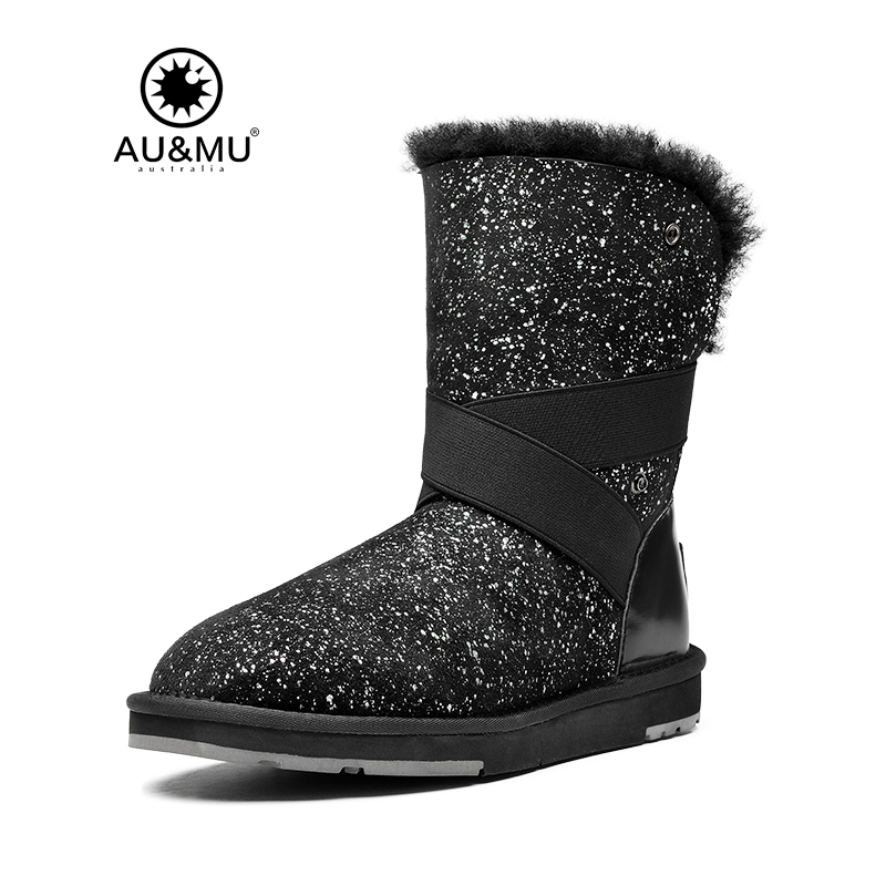 2017 Top Fashion Special Offer Fur Flat With Winter Slip-on 0-3cm Round Toe Snow Boots Botas Mujer Winter Boots Aumu N364 морозильная камера атлант 7204 100 090
