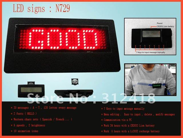 mini led signs red include software and USB cable led message Signs (100% quality assurance Free shipping)