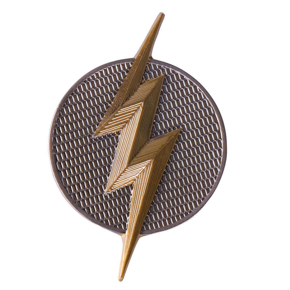 3da73dceda93 ... Justice League Badge Mortal Superhero Logo Badge Pins Brooches Metal  Superman Wonder Woman Flash Batman Aquaman