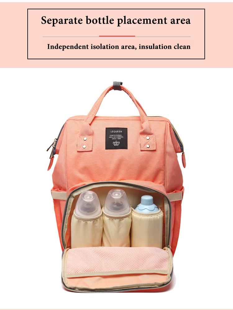 HTB12npGXfjM8KJjSZFNq6zQjFXaM Large Capacity Baby Bag Mummy Travel Backpack Fashion Brand Designer Nursing Bag for Baby Mom Backpack Women Carry Care Bags