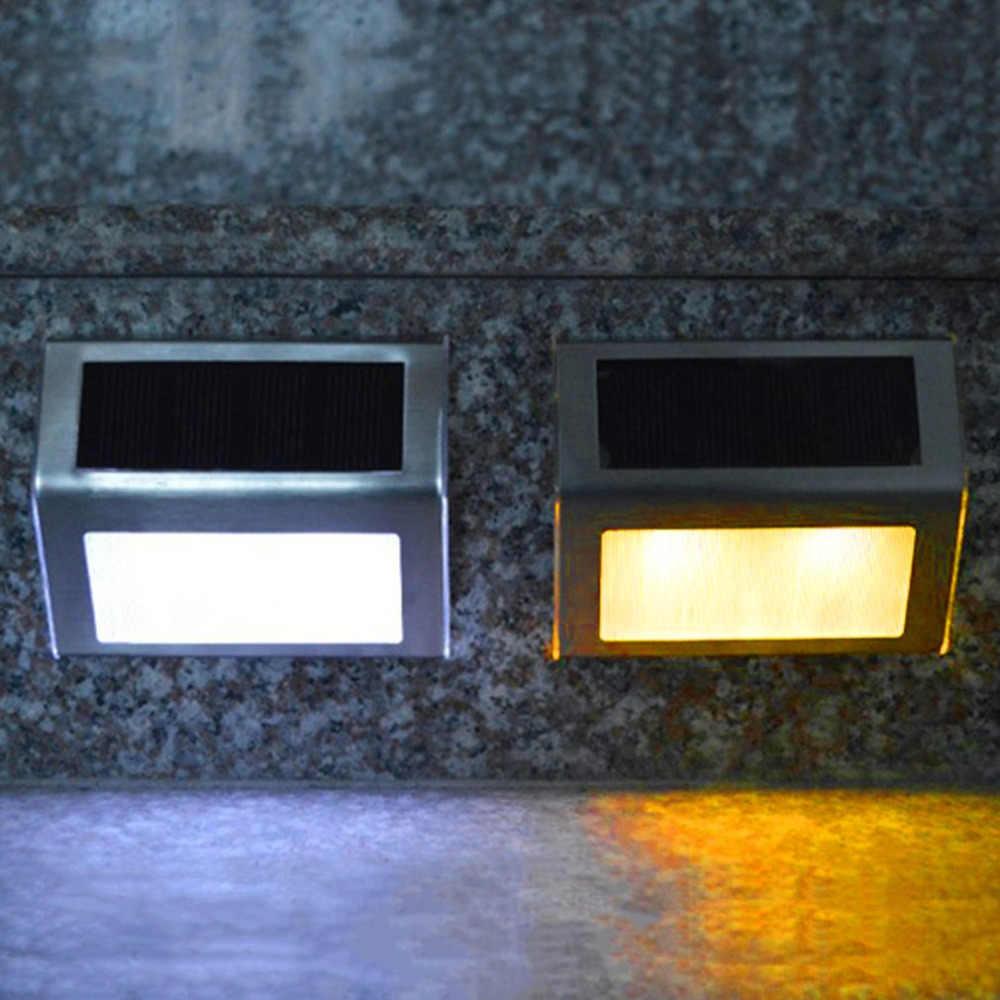 Энергосберегающий 2 светодиодный настенный светильник на солнечных батареях Открытый сад тропинка уличный многоступенчатый светильник водонепроницаемый IP55 свет безопасности