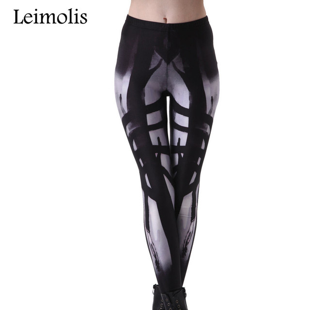 Leimolis 3D imprimé remise en forme push up workout leggings femmes gothique Alien Longue main démon plus taille adventure time punk rock pantalon