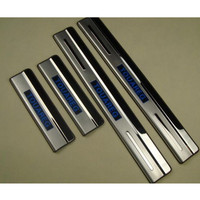 free shipping for Volkswagen touareg LED door sill stainless steel scuff plate threshold sticker accessories 4 pcs