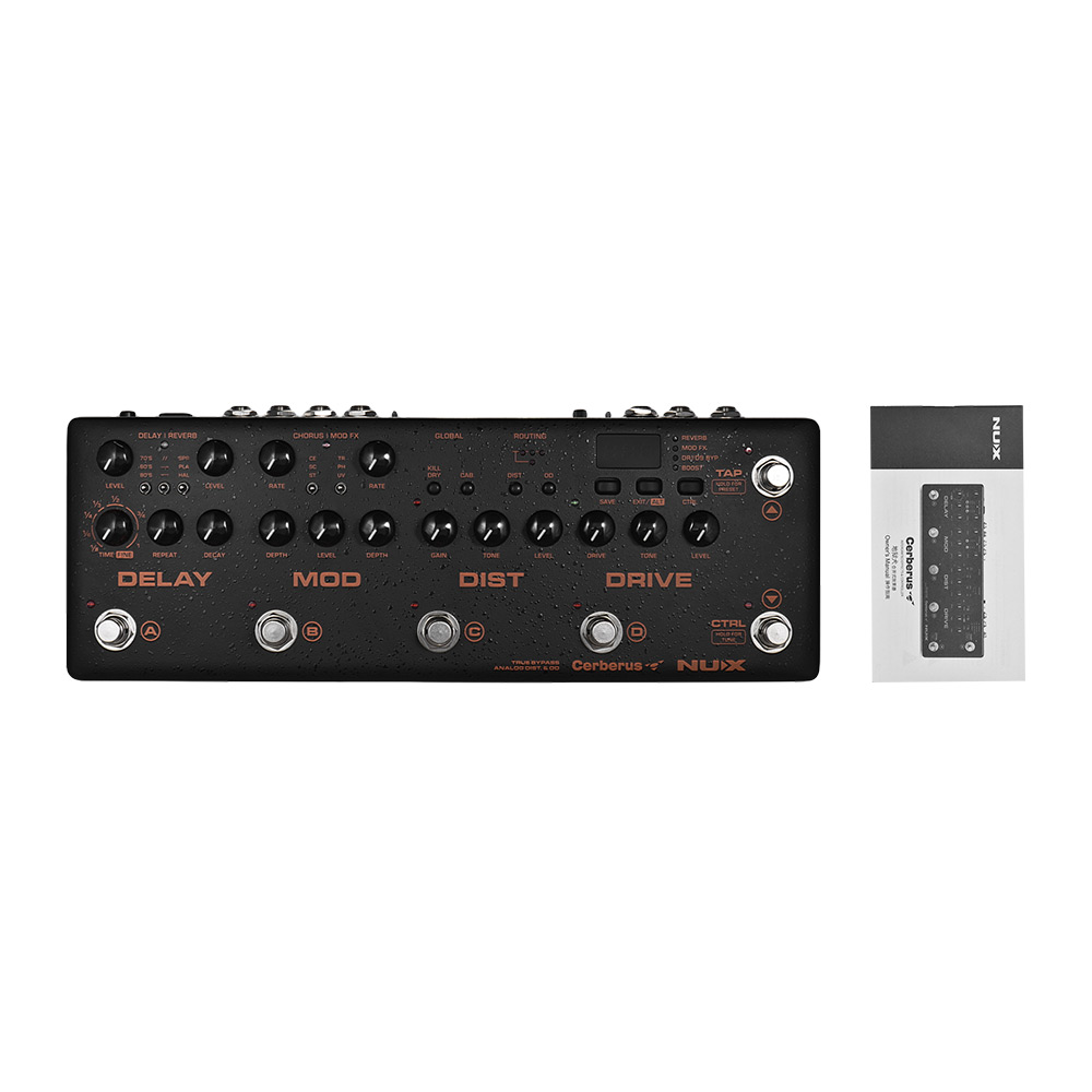 nux cerberus multi effects guitar effect pedal controller processor intergrated overdrive. Black Bedroom Furniture Sets. Home Design Ideas
