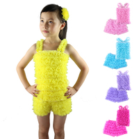 New Spring Summer Girl Short Sets Casual Clothing Set 2 Pieces Tank Tops Shorts With Ruffles