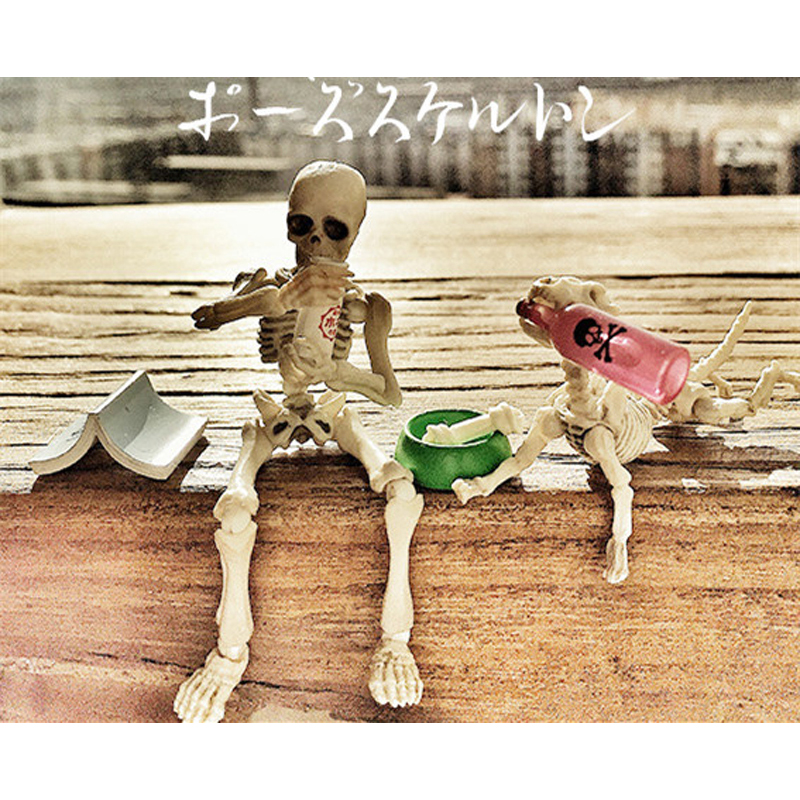 new halloween funny skeleton man cute jack skellington pumpkin king christmas town azrael death satan bone dog action figure - Animated Halloween Figures