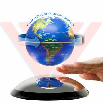 6 Inch Electronic Magnetic Levitation Floating Globe Auto Rotate Earth World Map