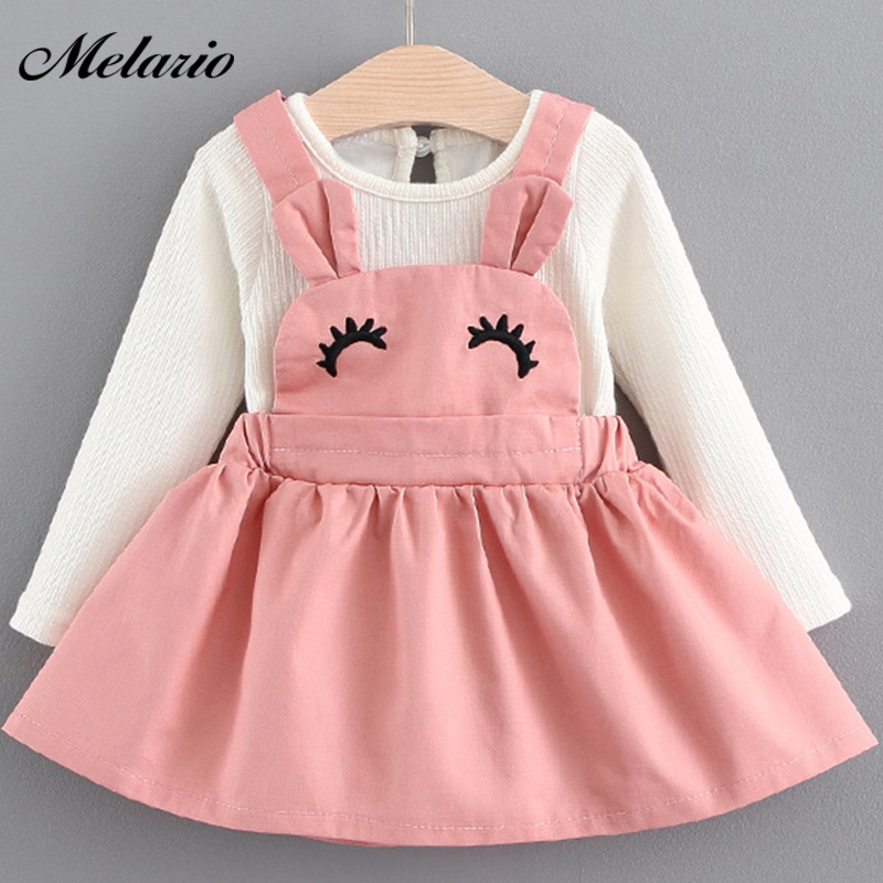 Melario Baby Dress 2018 Autumn Winter Baby Girls clothes Long Sleeve Princess Girls Dress Kids Clothes Children princess dresses