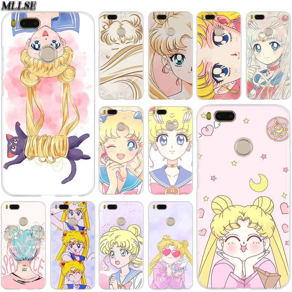 MLLSE <font><b>Anime</b></font> sailor moon lune cat <font><b>Case</b></font> Cover for <font><b>Xiaomi</b></font> <font><b>Mi</b></font> Play Pocophone F1 8 A1 A2 Lite 6 6Plus <font><b>Mix</b></font> 3 2S Redmi Note 4x 5 6 S2 image